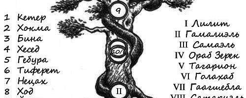 Древа Сефирот и Клипот